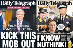 Daily Telegraph bias - 'Kick this mob out'